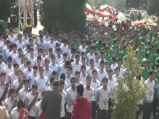 سرود همگانی 1357 نفره دانش آموزان جهرمی