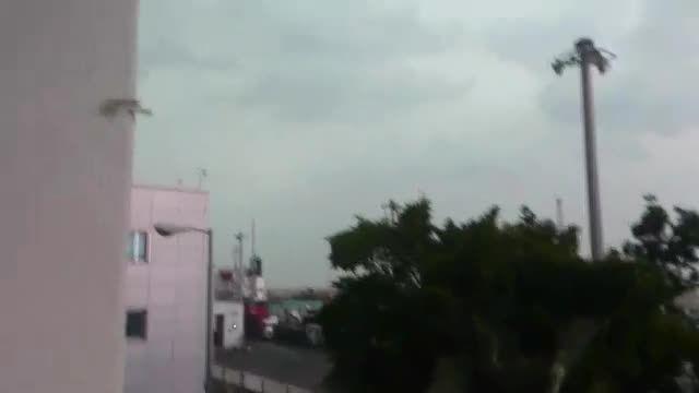 بارش شدید باران و تگرک در بوشهر قبل از باران 19/8/94