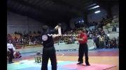 شکستن 4 سنگ.صادق حنبلی.قهرمان شکستن اجسام سخت جوانان ایران