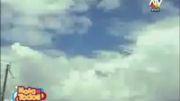 عبور بشقاب پرنده بزرگ از میان ابرها