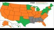 فیلم-نقشه : تاریخچه انتخابات ریاست جمهوری آمریکا