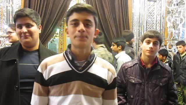 فیلم دانش آموزان دبیرستان عبدالوهاب محمدی راهیان نور