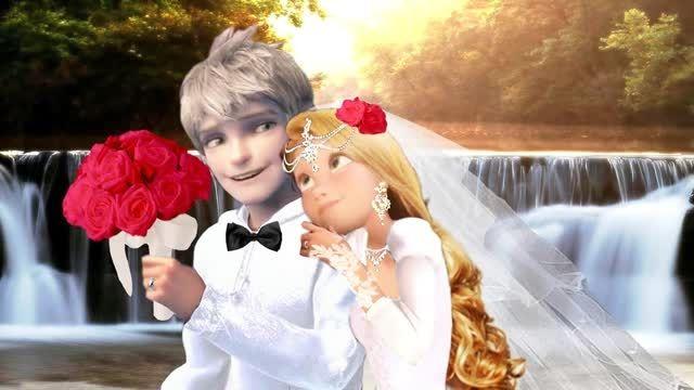 **عکسهای عروسی جک فراست و راپنزل**