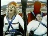 دو نفر وحشت زده از یک وسیله تفریح ( آخر خنده )