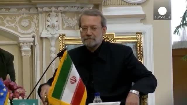 دیدار رئیس پارلمان اتحادیه اروپا با علی لاریجانی