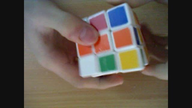 نمونه ای از حل کردن مکعب روبیک