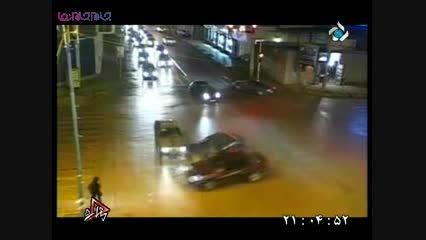 صحنه های تصادف در تهران بزرگ