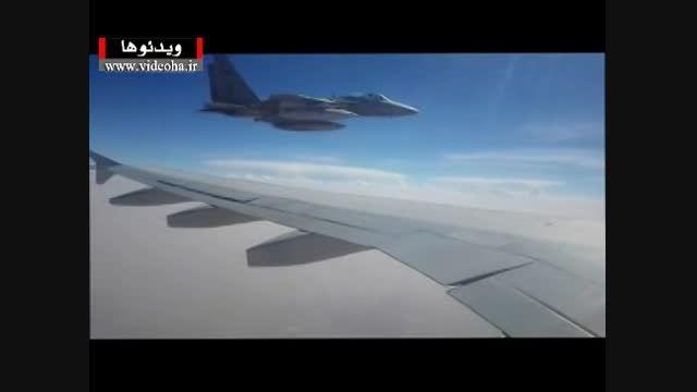 فیلم/تهدید هواپیمای ایران در آسمان یمن