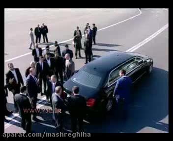خودرو ضد موشکی پوتین در تهران + لحظه ورود پوتین به تهرا