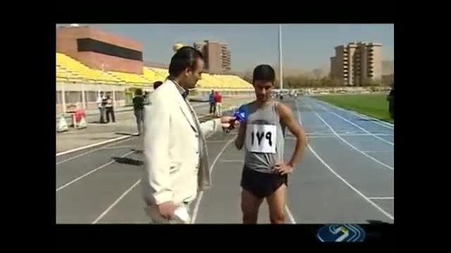 دونده معلول ایرانی که شب قبل از مسابقه در ماشین خوابید