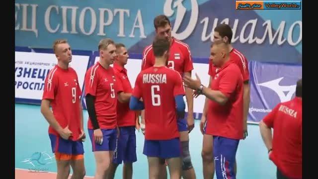 صحنه هایی از دیدار دوستانه ایران - روسیه در مسکو 2015