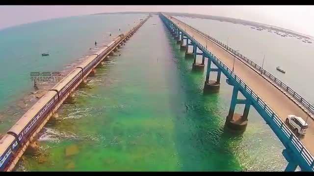 پل زیبای Pamban هندوستان