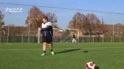 مهارت جالب یک بازیکن آماتور هلندی در زدن ضربات ایستگاهی