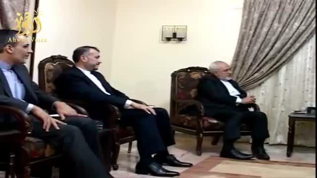 فیلم دیدار سید حسن نصرالله با محمد جواد ظریف در بیروت