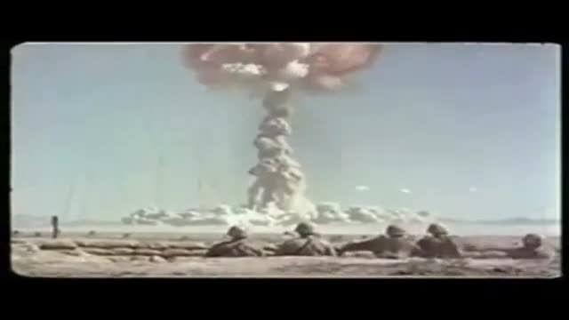 آزمایش هسته ای در نوادا با حضور سربازان