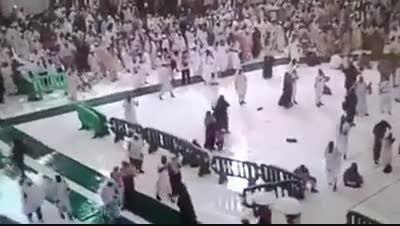 لحظه سقوط جرثقیل بر سر حجاج