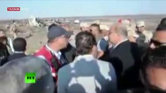 اولین فیلم منتشر شده از محل سقوط هواپیمای مسافربری روسی