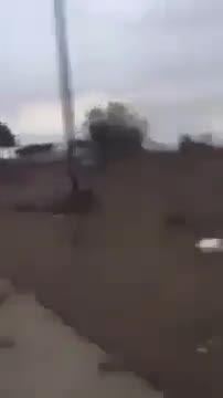 ابوعزرائیل در حال دوچرخه سواری در تکریت