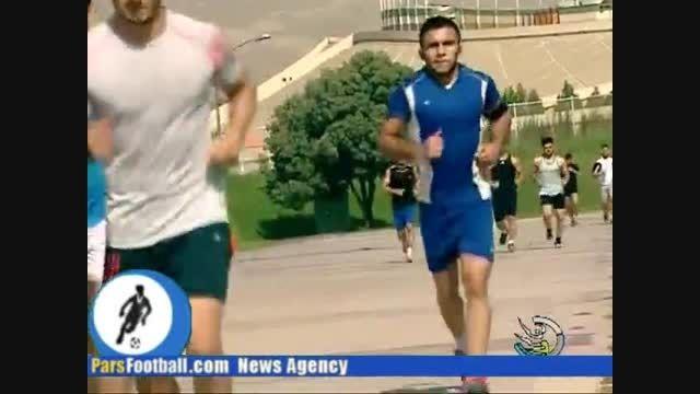 محمد بنا | تمرین در ورزشگاه آزادی