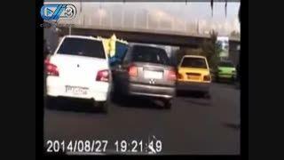 تعقیب و گریز پلیس و سارق  در خیابان های تهران