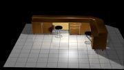 فیملی از یک طراحی  سه بعدی یک  کانتر