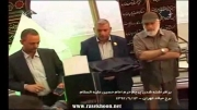 برافراشته شدن پرجم حرم ابا عبدالله بر فراز برج میلاد تهران