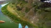 پرش با چتر و فرود کنترلی بر روی قایق -دیدنی
