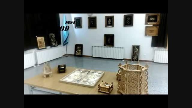 نمایشگاه آثار هنرمندان در هشترود + تصاویر و ویدئو