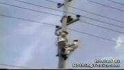 حادثه تماس با ولتاژ 50 هزار ولت