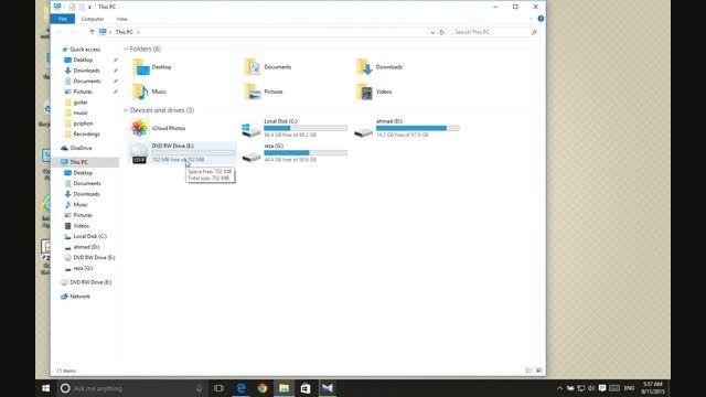 اموزش رایت کردن توسط windows explorer
