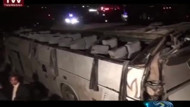 واژگونی اتوبوس زائران عراقی در بازگشت به مرز مهران