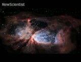 نمای ۳بعدی تلسکوپ فضایی هابل از زایشگاه ستارگان سنگین