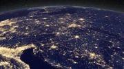نورهای روشن زمین در شب - آلودگی نوری