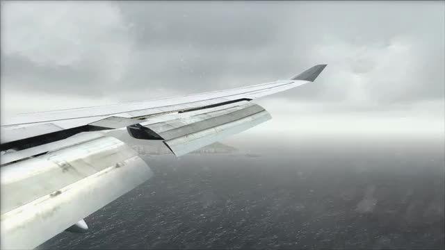 لندینگ بوئینگ 400-747 در فرودگاه هنگ کنگ
