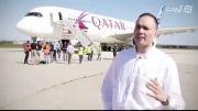 تست فرود ایرباس A350  روی باند خیس