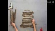 ساخت درخت کریسمس با تکه های چوب