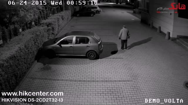 نمونه تصویر شب دوربین هایک ویژن مدل DS-2CD2T32-I3
