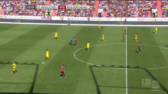 نیمه اول بازی : اینگول اشتاد 0 - 4 دورتموند (بوندسلیگا)