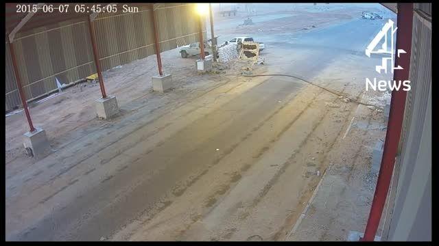 کلیپ منحصر بفرد از حمله داعش(دوربین مداربسته لیبی)سوریه