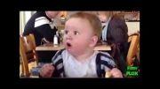 عکس العمل خنده دار کودک به خوردن لیمو ترش