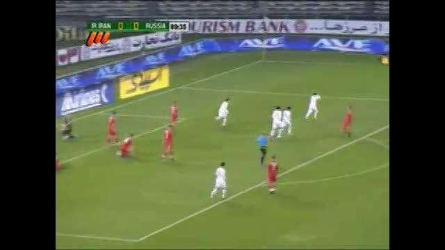 گل خلعتبری به روسیه(ایران 1 - 0 روسیه)