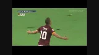 فرانچسکو توتی گل زد و با هواداران عکس سلفی گرفت!
