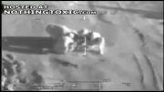بمباران عناصر داعش هنگام مین گذاری