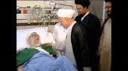 بوسه آقای هاشمی رفسنجانی بر پیشانی رهبری