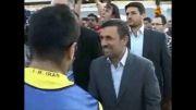 حضور رئیس جمهور در تمرین تیم ملی