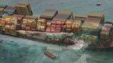 غرق شدن کشتی باری