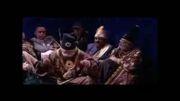 شعر خواندن بابا اتی در قهوه تلخ همراه با اهنگ ریتمیک