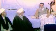 امام خمینی(ره) و جمع صمیمی یاران ایشان