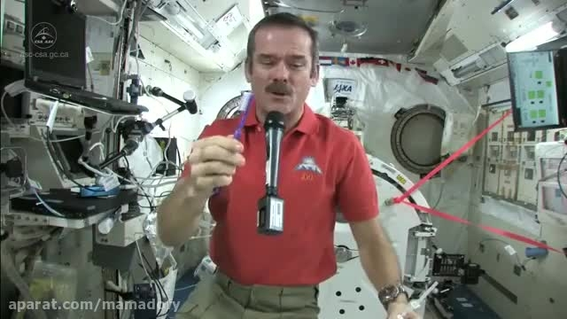 مسواک زدن در فضا!