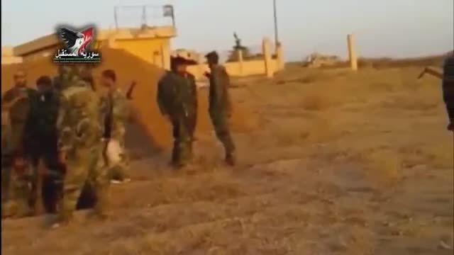انهدام انتحاری داعش توسط ارتش سوریه در جنوب حسکه